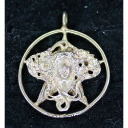 Goddess filigree pentagram 2""