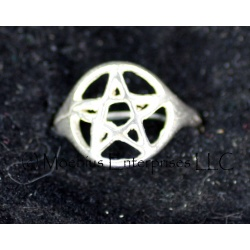 Open pentagram ring